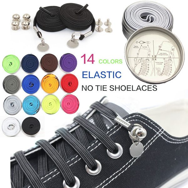 meet look out for new lifestyle Elastic No Tie Shoelaces 14color one hand quick and easy lazy Shoe laces  gifts for men and women children sport Locking SHOES Accessories