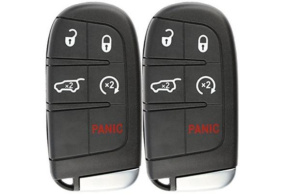 KeylessOption Keyless Entry Remote Car Smart Key Fob for Dodge Durango Journey M3N-40821302 Pack of 2