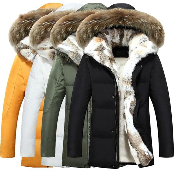 : Womens Faux Fur Winter Jacket Parka Hooded Coat