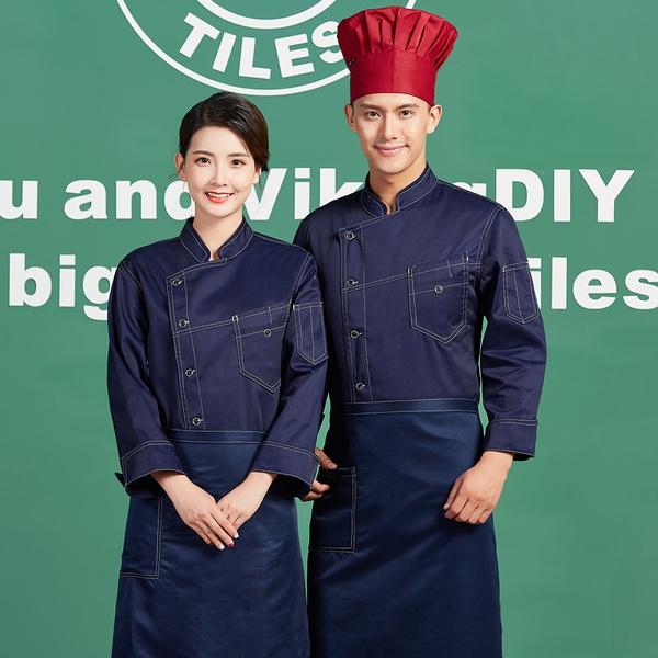 Chef jacket uniform long sleeve kitchen restaurant clothing chef overalls