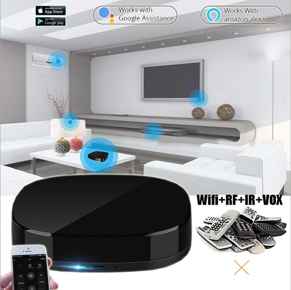 Smart Home WiFi+IR+RF+VOX Intelligent Remote Controller Switch For IR  controlled devices Automation Wifi Voice Phone 3in1 Control Switch For  Alexa