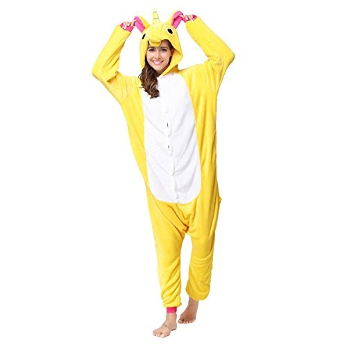 RONGTAI Animal Unicorn Onesie Pajamas Adult Cosplay Sleepwear for Women Men