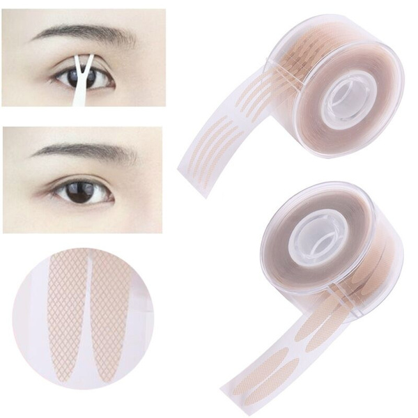 600pcs/Roll DOUBLE EYELID STICKER Makeup Clear Lace Mesh Eyelid Stripe Big  Eyes Invisible Fold Eyelid Shadow Sticker Eyelid Medical Tape