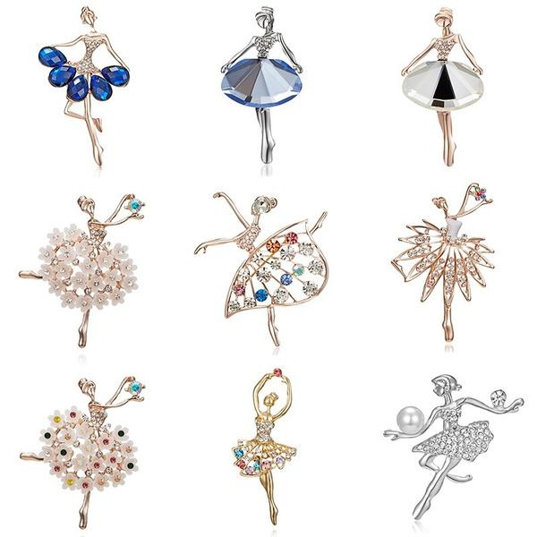 Ballet, Pins, Dancing, crystalbrooch