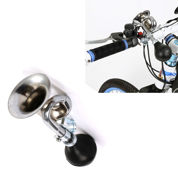 Non-Electronic Trumpet Loud Bicycle Bike Bell Vintage Retro Hooter silver AD