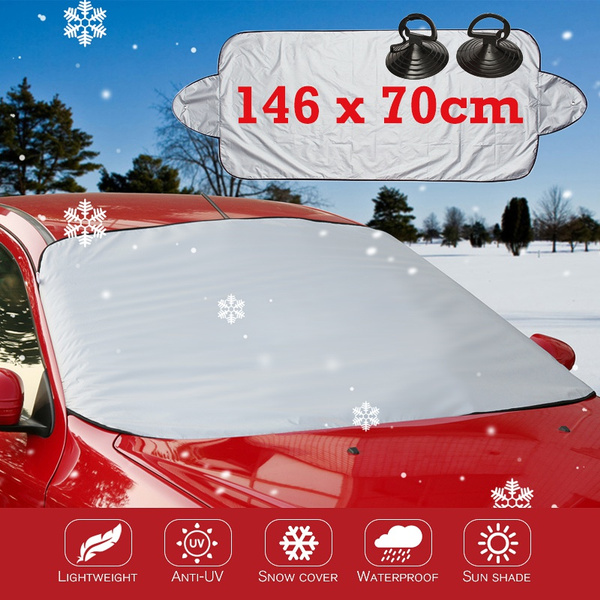 Car Windshield Visor Cover UV Protect Anti Ice Snow Frost Shield Dust Protection Sun Shade for Front Car Windshield Color:Black