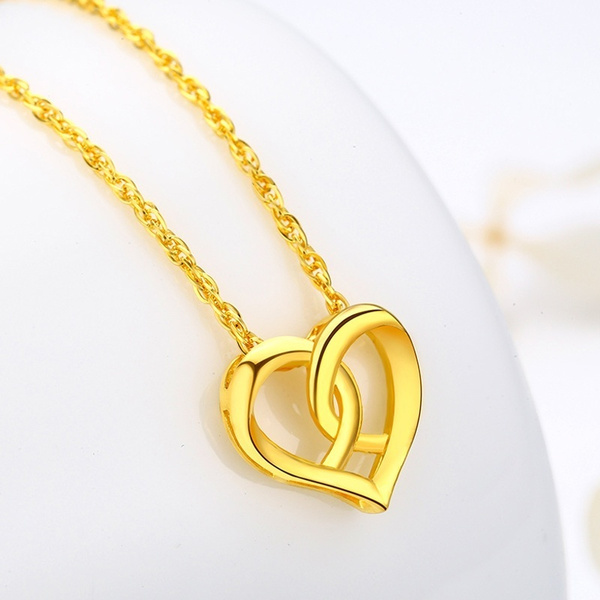 925 sterling silver necklace, Sterling, Engagement, goldplated
