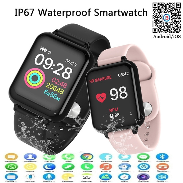 Men Sport Smart Watch IP67 Waterproof Smartwatch Heart Rate Monitor Blood  Pressure Multiple Sport Mode Women Wearable Watch for Iphone Android