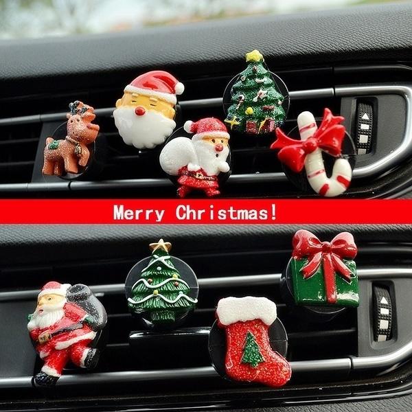Car Christmas Ornaments.Car Perfume Santa Car Outlet Clip Car With Aromatherapy Air Conditioning Car Christmas Ornaments Ornaments Light Fragrance