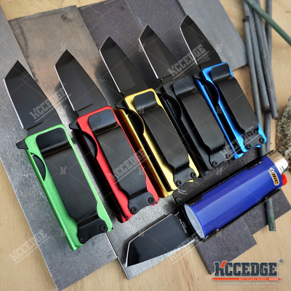 USA SELLER USA STOCK BIC Lighter Holder w / Spring Assisted Open Folding  Tanto Blade Pocket Knife Bro EDC Multi-Tool W/ MONEY CLIP