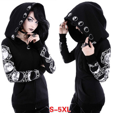 Goth, Plus Size, Long Sleeve, Cosplay Costume