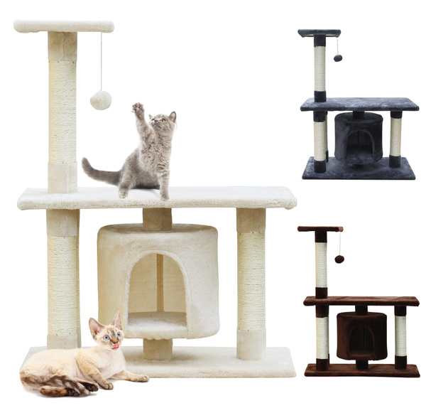 Cat Scratcher Tree Natural Sisal Rope Cat Scratching Post Activity Centre
