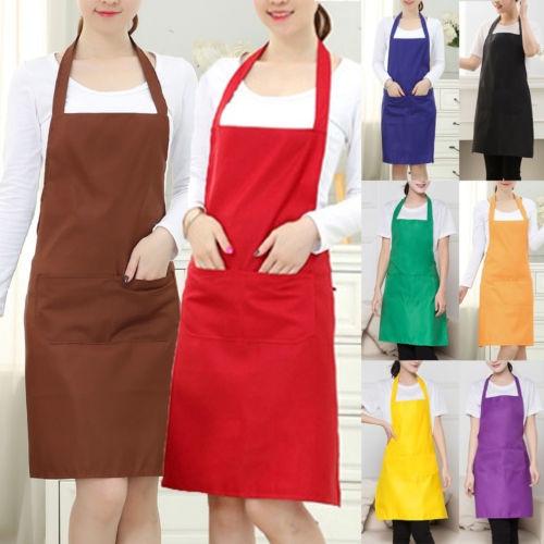 Apron Dress Men women Kitchen Restaurant Chef Cooking Pocket Hot Adjustable Bib