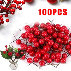 redhollyberry, Decor, Flowers, Christmas