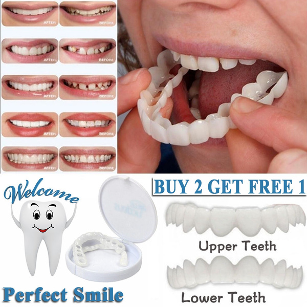 Snap Perfect Smile Teeth Fake Tooth Cover On Smile Instant Teeth Cosmetic  Dentre Care