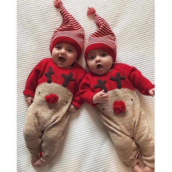 Newborn Kids Baby Boys Girls Infant Rompers Jumpsuit Bodysuit Clothes Outfit Set