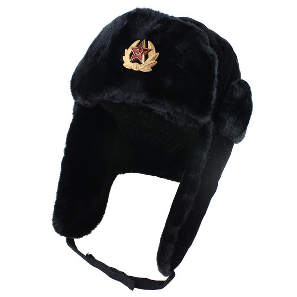 356ce9c1 Russian Winter Hat Ushanka With Soviet Army Badge | Wish