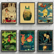 cartoonposter, miyazakihayaoposter, miyazaki, postersampprint