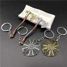 Jewelry, godofwarshield, carkeychain, keyringskeychain