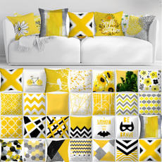 Decoración de hogar, Amarillo, Pillow Covers, Throw Pillow case