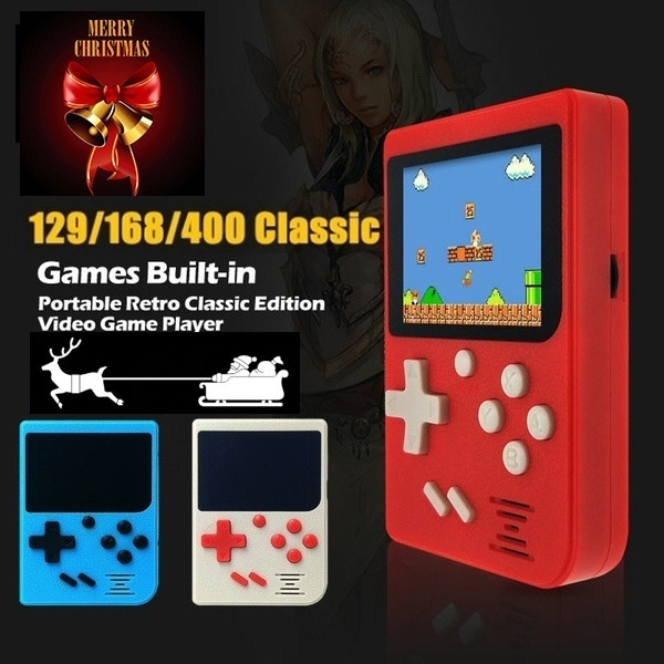 Children's Christmas Gifts Pocket PC Game Console 2 4 LCD 8-bit Mini  Portable Game Console Built-in 129 Game 169Games 400Games