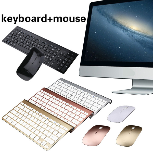 2 4G Quiet keyboard for Laptop Ipad Wireless Mini Bluetooth Keyboard  Waterproof Keyboard with Wireless Mouse Bluetooth Receiver