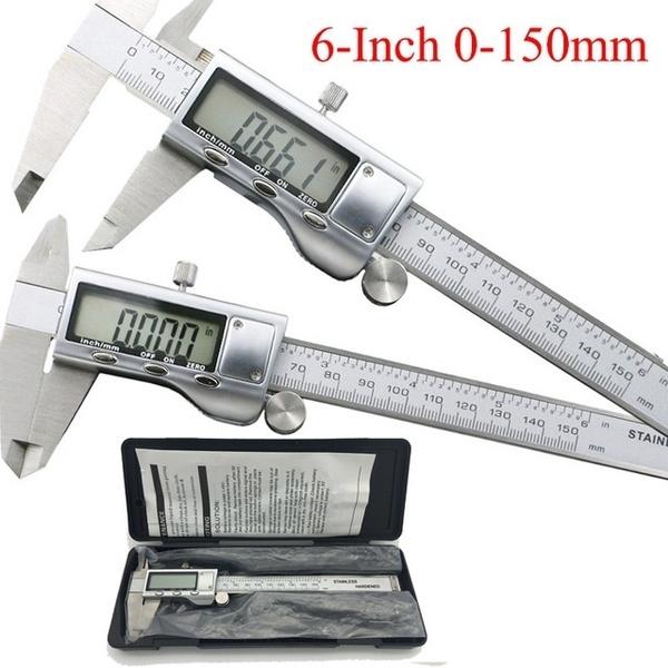 LCD Digital Digitaler Messschieber Schieblehre 150mm Caliper Vernier Micrometer