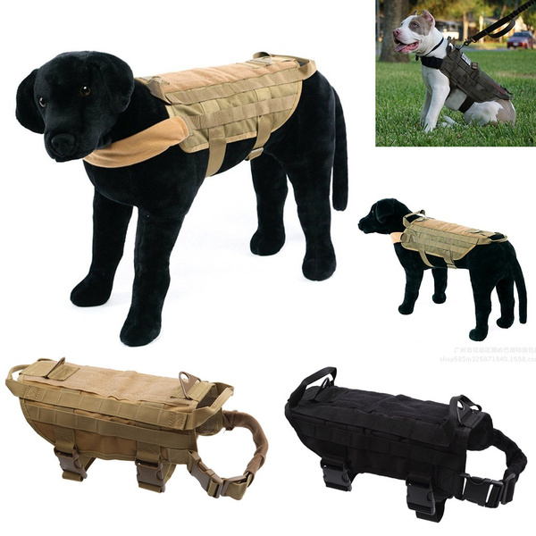 Tactical Police K9 Military Dog Vest Harness Service Canine Nylon Service MOLLE