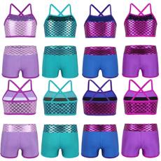 2 Piece Swimsuit, Ballet, balletdancewear, crop top