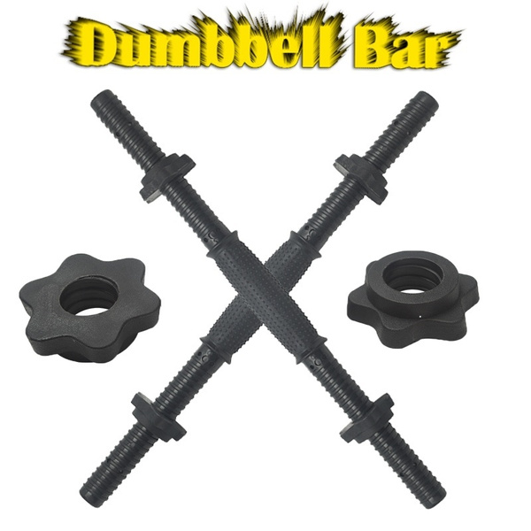 """Dumbbell Weight lifting Bar Standard 1/"""" Bars with Spinlock Collars 2 x 18/"""""""