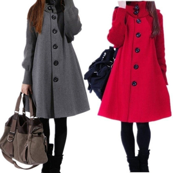 Bat, Plus Size, Winter, Coat