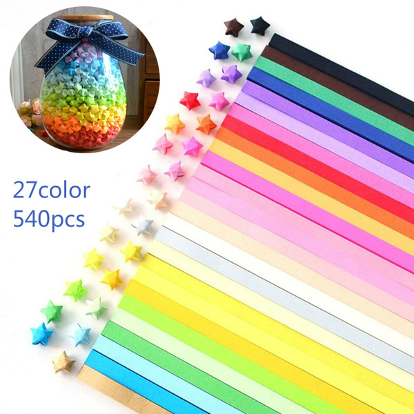 400PCS Colorful Mixing Set Star Paper Lucky Star Origami Paper DIY ... | 600x600