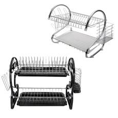 Steel, Kitchen & Dining, Stainless Steel, dishesshelf