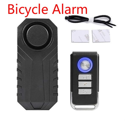 Wireless Alarm Lock Bicycle Bike Security System With Remote Control Anti-Theft