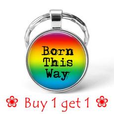 rainbow, silverkeyring, Key Chain, couplekeychain