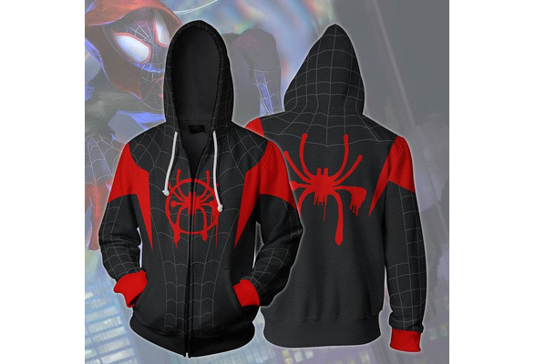 Spider-Man Into the Spider-Verse Hoodie Sweatshirt Cosplay Costume Coat Jacket