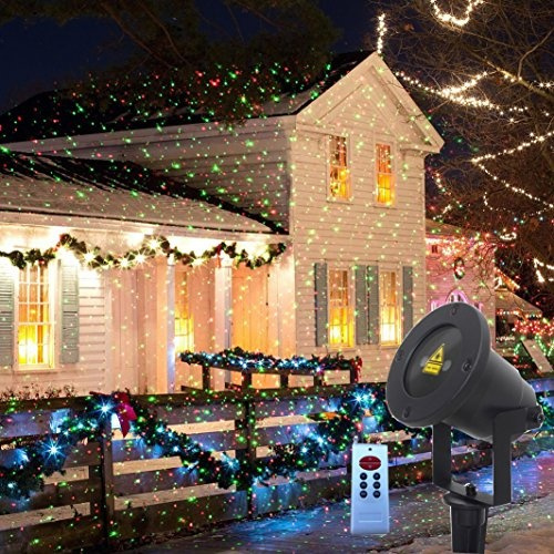 Christmas Projector Lights.Outdoor Projector Lights Moving Static Firefly Garden Light Projector Red And Green Stars Christmas Projector Lights Outdoor With Rf Remote For