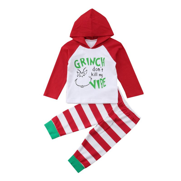 Newborn Baby Set Strip Tops+Leggings Long Sleeve Hooded Trousers Outfits Cloth