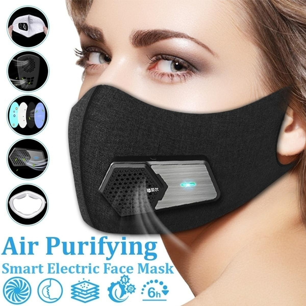 Electric Gas Supply N95 Running Mask Cycling Fresh Outdoor Pollen And For Exhaust Purifying Smart Air Antipollution Pm2 5 Allergy