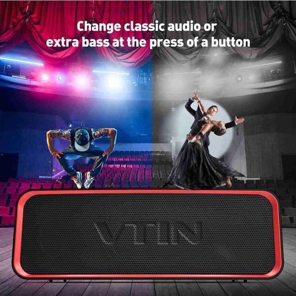 Vtin Portable Mini Boom Box Outdoor HIFI Bass Column Speaker Wireless  Bluetooth Speaker Subwoofer Sound Box for Phone PC Caixa De Som Enceinte