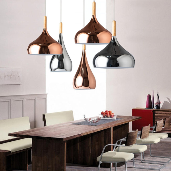 Post Modern Style Pendant Light Rose Gold Silver Hanging Ceiling Lamps Classic Chandelier For Living Room Restaurant Bedroom Kitchen Simple Mill