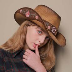 Summer, Moda, embroideryhat, Cowboy