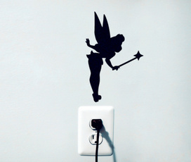 fairysticker, silhouette, Tinker Bell, decoration