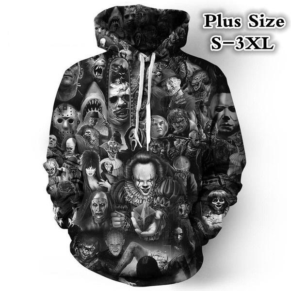 Couple Hoodies, 3D hoodies, Plus Size, hooded