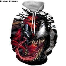 3D hoodies, 3dprintsweatshirt, skull, unisex