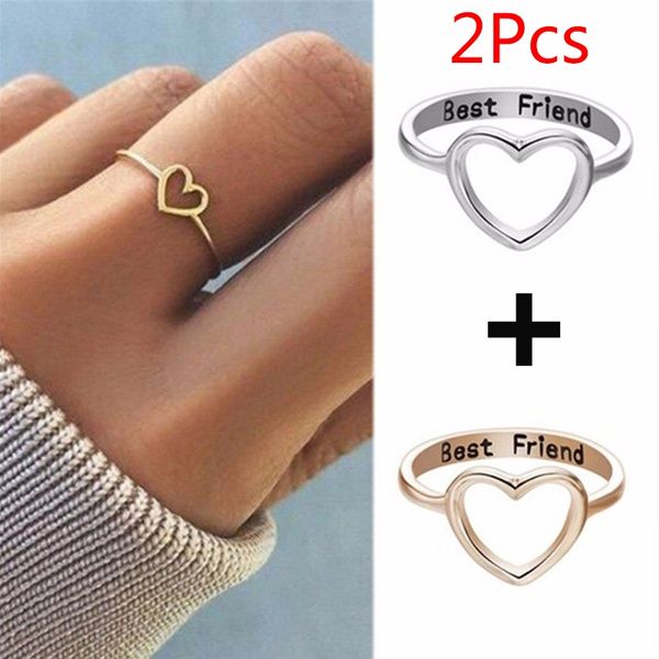 2pcs Eternal Friendship Rings For Women