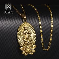 virginmarynecklace, cadenasdeoro18k, goldchainnecklace, Jewelry