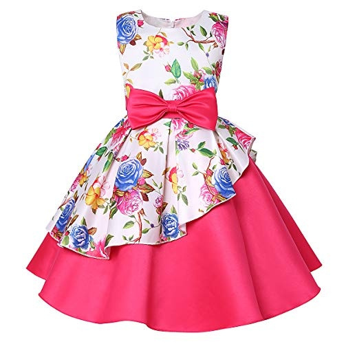 ZaH Little Girl Baby Special Occasion Flower Cotton Dress Size 1 to 7Y