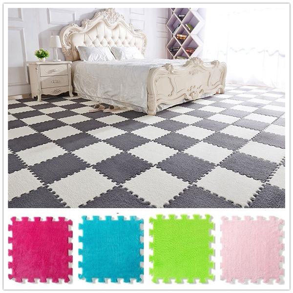 11 8 11 8 Eva Soft Warm Plush Floor Mat Puzzle Square Foam Floor