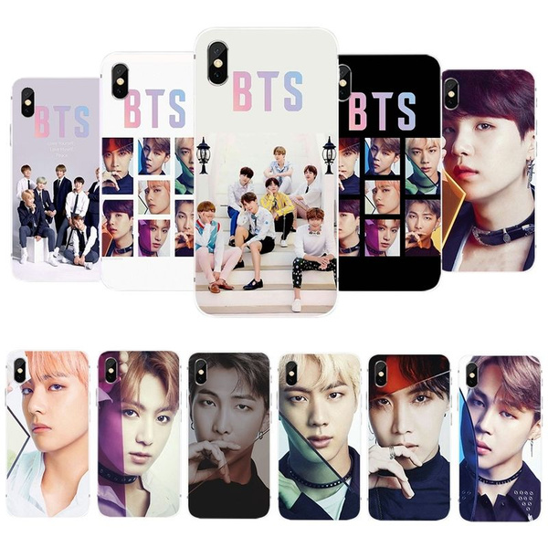 Korean Fashion Bts Bangtan Boys  Pattern Protector Case Cover For Iphone 5 / Se / 5s 6 / 6 S Plus 7/7 Plus 8/8plus X I Phone Xs Max Xr Soft Tpu Phone Case Téléphone Case by Wish